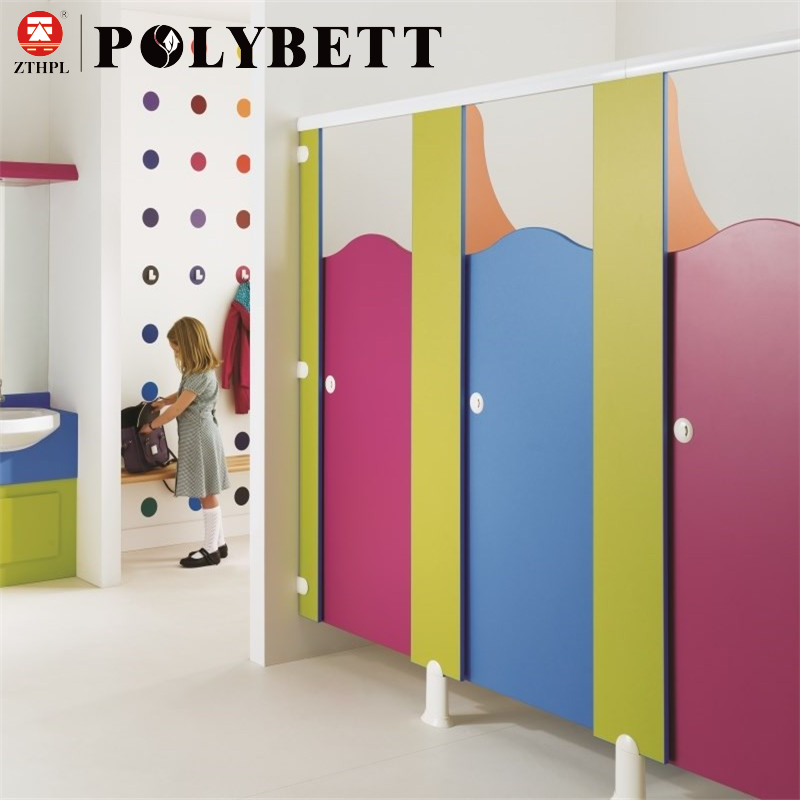 Compact Laminate Toilet Partition HPL for Kindergarten