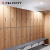 Woodgrain Hpl Compact Laminate Locker Storage Cabinet for Changing Room