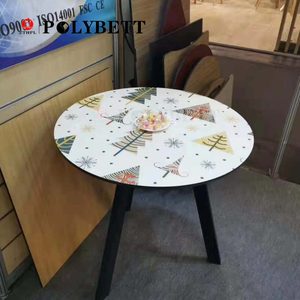 Decorative Heat Resistant And Waterproof Interior Art Compact Laminate Sheet for Table Top